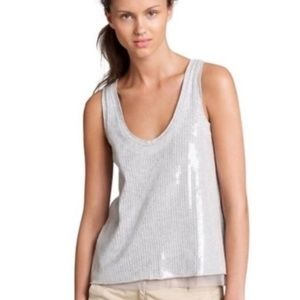 J. Crew Collection Sequin Gray Top